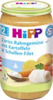 Kindermenü Zartes Rahmgemüse mit Kartoffeln & Schollen-Filet ab 12. Monat