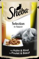 Nassfutter für Katzen, Delikates Duo mit Huhn und Rind in Sauce