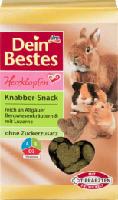 Herzklopfen, Snack für Nager & Zwergkaninchen, Knabber-Snack reich an Allgäuer Bergwiesenkräutern & mit Luzerne