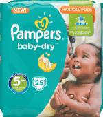 Windeln Baby-Dry, Größe 5+ Junior plus, 13-25 kg, 25 St
