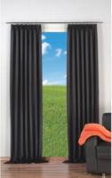 Vorhang Linus, Verdunkelungsqualität, ca. 140 x 245 cm, schwarz
