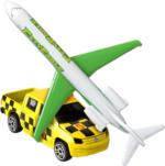 Fahrzeug-Set Flugzeug und Begleitwagen