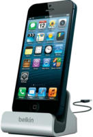 Belkin Lightning Lade/Sync Dock für iPhone silber NEU OVP edles Aluminium Finish