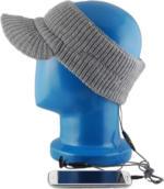 Schirmmütze grau mit integr. Kopfhörer für MP3-Player NEU OVP Smartphone