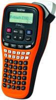 Brother P-touch E100 Handheld Beschriftungsgerät 54 Tasten 180dpi Orange NEU OVP