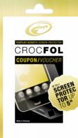 Gutschein - Crocfol Displayschutz (Folie) bis 5 Zoll NEU OVP TRANSPARENT PREMIUM