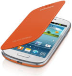 Samsung Flip Cover EFC-1M7F für S3 Mini, Orange, NEU, OVP, schützende Klappe