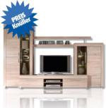 ROLLER Wohnwand Boom - Sonoma Eiche - LED Beleuchtung - 308 cm breit