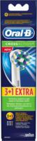 Oral-B EB CrossAction (3+1Stk) Ersatz-Zahnbürsten weiß