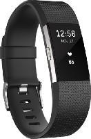 Wearables & Zubehör - Fitbit Charge 2 Small, Activity Tracker, 140-170 mm, Schwarz/Silber