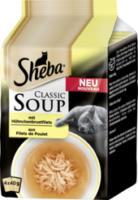 Nassfutter für Katzen Classic Soup Hühnchenbrustfilet Multipack 4x40g