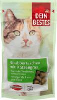 Snack für Katzen, Knabbertaschen mit Katzengras