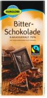 FAIRGLOBE Bitter-Schokolade 70 % Kakao
