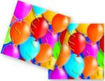 Procos - 20 Servietten Balloons blau 33x33 cm