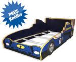 ROLLER Kinderbett Rennauto - blau - 90x200 cm