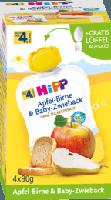 Quetschbeutel Apfel-Birne & Baby-Zwieback nach dem 4. Monat, 4x90g