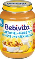 Babymenü Kartoffel-Püree mit Gemüse und Hackfleisch ab 6. Monat