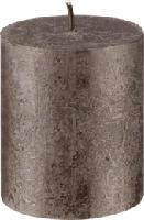 Rustikkerze 80/68 Met.Braun 1St