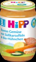 Menü Buntes Gemüse mit Süßkartoffeln & Bio-Hühnchen ab 8. Monat