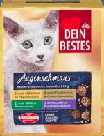 Augenschmaus Nassfutter für Katzen, Vorteilspack Beutel in Sauce, 8 x 100 g