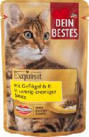 Exquisit Nassfutter für Katzen mit Geflügel & Ei, in Sauce