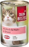 Nassfutter für Katzen mit Kalb & Huhn, in Sauce