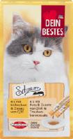 Schnurr Snack für Katzen, 4 x mit Hühnchen & Zusatz von Q10, 4 x mit Pute & Zusatz von Zink und Traubenkernextrakt