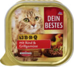 Nassfutter für Katzen BBQ, mit Rind und mediterranem Grillgemüse