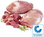 Frischer Schweinebraten, Schweinerollbraten oder Schweinegulasch