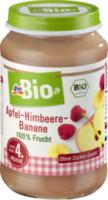 Früchte Apfel-Himbeer-Banane nach dem 4. Monat