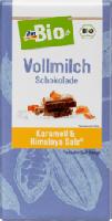 Vollmilch Schokolade Karamell & Himalayasalz