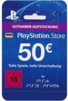 PlayStation Store Guthaben-Aufstockung 50 Euro für PS3, PS4, PSVita