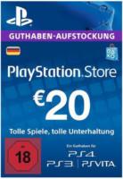 PlayStation Store Guthaben-Aufstockung 20 Euro für PS3, PS4, PSVita