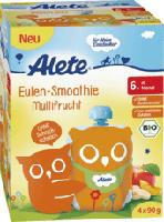 Quetschbeutel Eulen-Smoothie Multifrucht ab 6. Monat, 4x90g