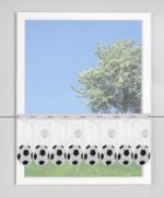 Scheibengardine Fussball
