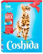 COSHIDA Katzentrockennahrung Knusper-Mix mit Rind, Wild, Lamm & Gemüse