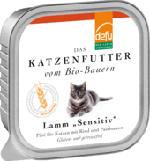 Nassfutter für Katzen, Lamm, Sensitive, getreidefrei, 16x100g