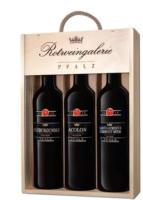 Rotweingalerie Pfalz Holzkiste 3x0,75-l