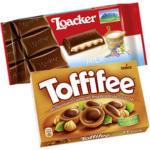 Loacker Tafelschokolade oder Toffifee