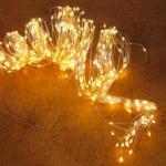 Kölle LED Regen 480 Lichter, Silberdraht, warmweiß