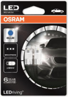 OSRAM LED Premium Retrofits W5W LED-Innenraumbeleuchtung, Eisblau, 2850BL, 2 Stück