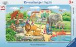 Ausflug in den Zoo 15 Teile - 15 Teile Rahmenpuzzle - Ravensburger