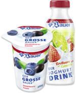 Bauer Fruchtjoghurt oder Joghurt Drink versch. Sorten, jeder 250-g-Becher/jede 250-g-Flasche