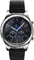 Smartwatches - Samsung Gear S3 Classic Smartwatch Echtleder, 22 mm, Korpus: Silver, Echtleder-Armband: Black