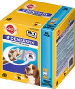 Snack für Hunde, Zahnpflege DentaStix, für mittelgroße Hunde, Multipack 8x7 Stück
