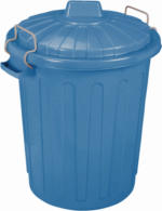 Curver Mülleimer Oscar-Tonne M, blau, 23 L