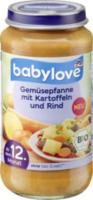 Kindermenü Gemüsepfanne mit Kartoffeln und Rind ab 12. Monat