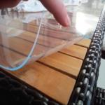 Transparente PVC-Glasfolie 800 x 2,5 mm (Meterware)