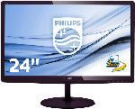PC Monitore 22,3 bis 26 Zoll - Philips 247E6LDAD/00 23.6 Zoll Full-HD Monitor (1x VGA, 1x DVI-D, 1x MHL-HDMI, 1x PC-Audio-Eingang, 1x 3.5 mm Klinke Kanäle, 1 ms Reaktionszeit)