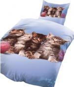 """Microfaser-Bettwäsche """"Katzenbabies"""""""